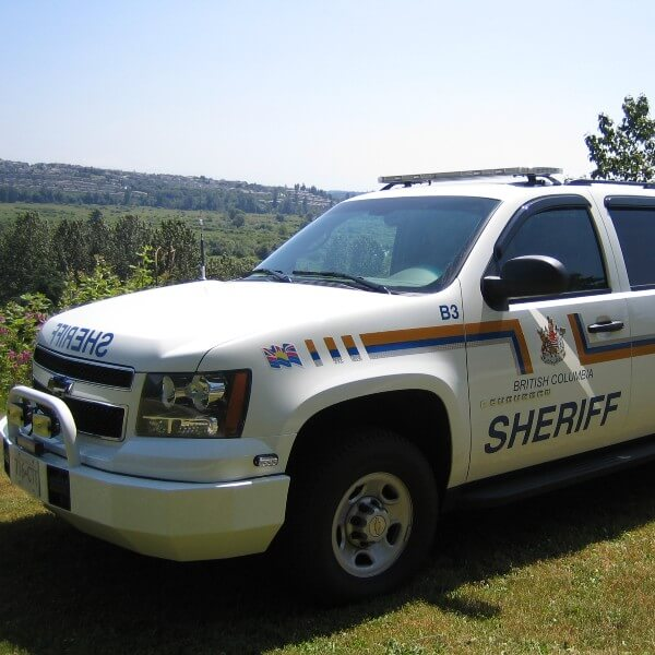 white sheriff vehicle